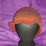 Fiery Red & Orange Ruffled Hat (front)