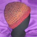 Fiery red simple hat (with rolled brim - profile)