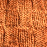 Close up stitches - Orange Checkered hat