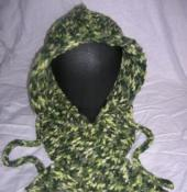 Forest Hoodie Hat and Scarf