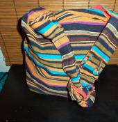 Tibetan Jute Bag with stripes