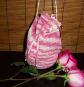 Small crochet bag - pink