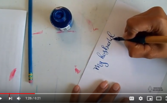 Speed Calligraphy on YouTube